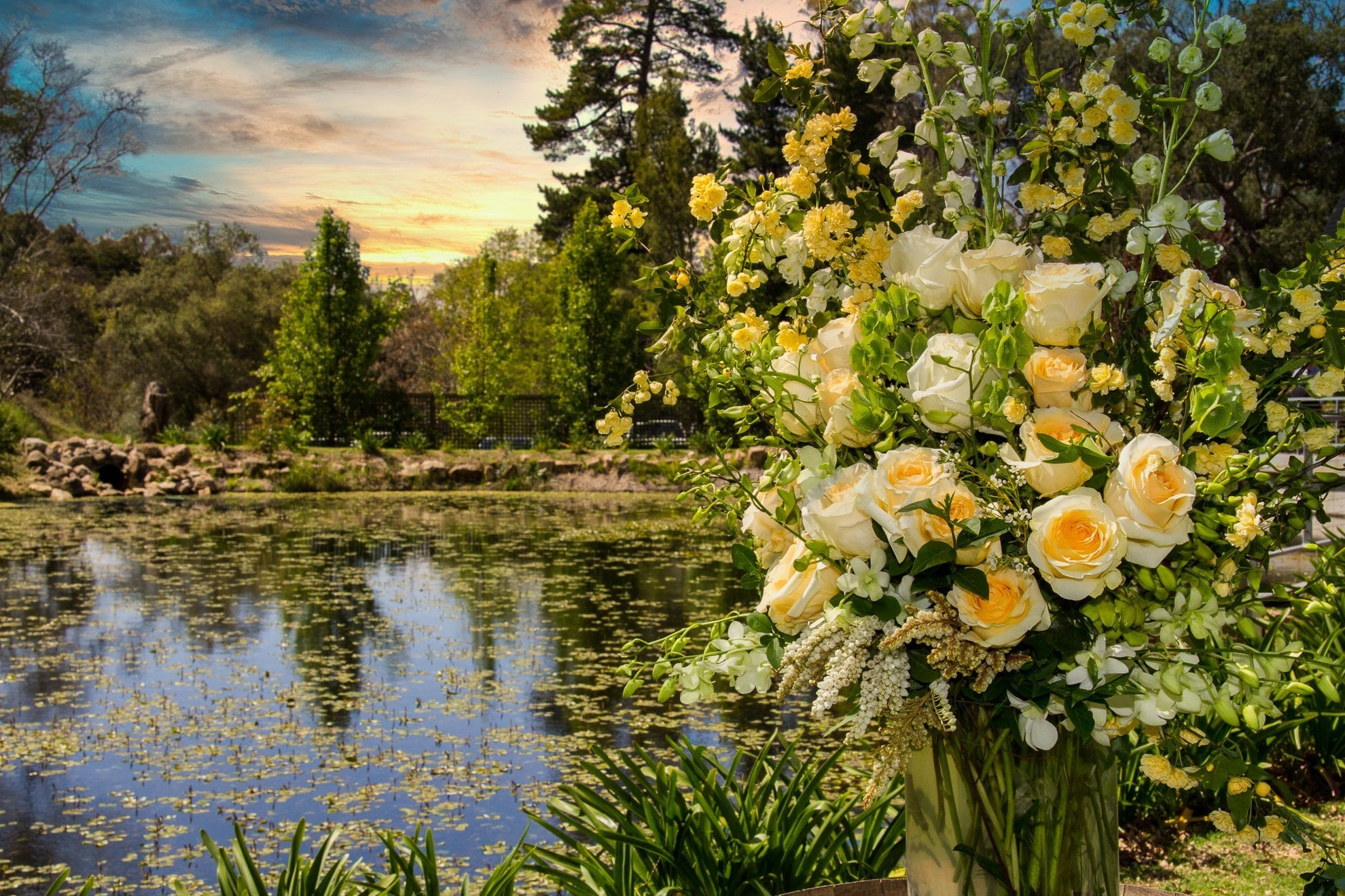 Houghton Lake with Flowers