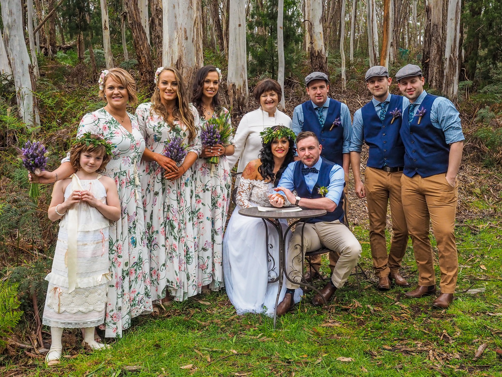 Wedding Party in Ghost Gum Forest