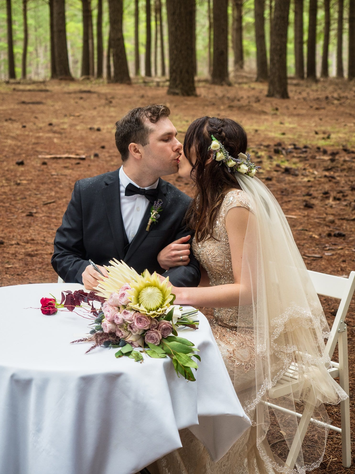 Kuitpo Forest Couple Kissing