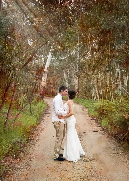 Married Couple on Dirt Road